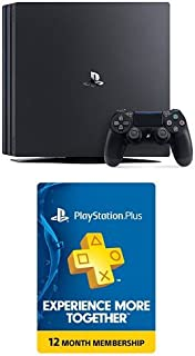 PlayStation 4 Pro 1TB Console + 12 Month PlayStation Plus Membership