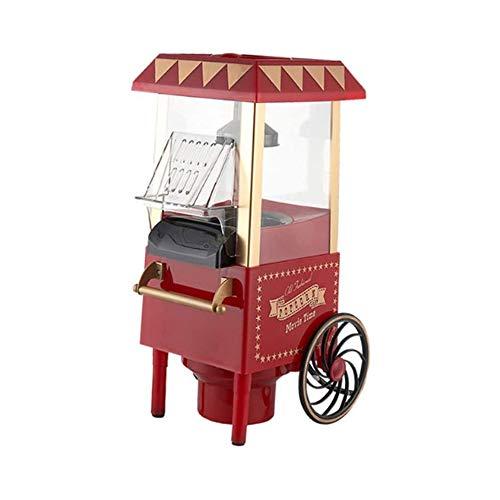 LKNJLL Nostalgie Popcorn-Maschine, 1200 W, 220 V, 12 Cup, Rot