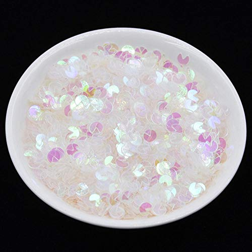 20g / pack couleur mélangée ongles paillettes lâche paillettes fer à cheval bricolage décoration de mariage paillettes argile remplissage nail art. Arts and Crafts, AB Transparent, 10g