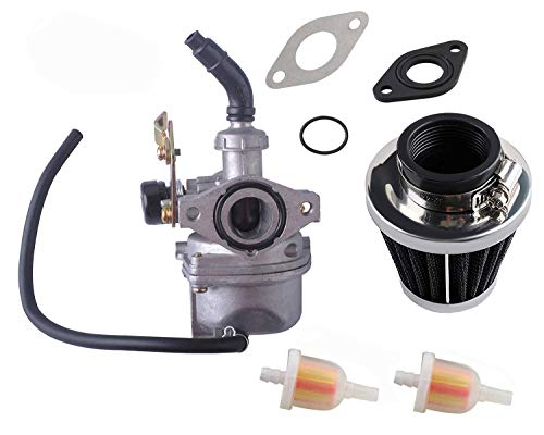 Podoy PZ19 Carburetor for Compatible with Taotao ATV Cable Choke Carb Gaskets with 35mm Motorcycle Air Filter Fuel Filters for Chinese Made 50cc 70cc 90cc 100cc 110cc 125cc Dirt Bike Scooter Go Karts