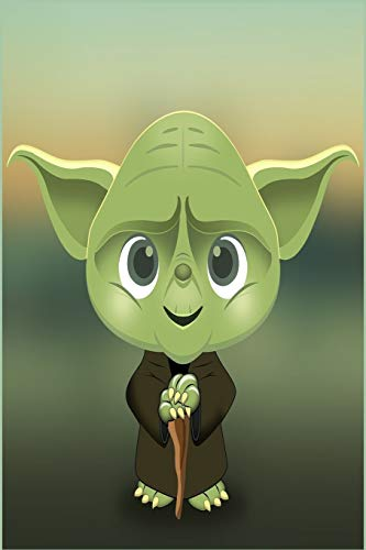 Baby Yoda: Fivestar notebooks- baby yoda notebook -baby yoda mandalorian- baby yoda calendar- baby yoda gifts- 110 pages, 6 x 9 - Soft Cover, Matte Finish