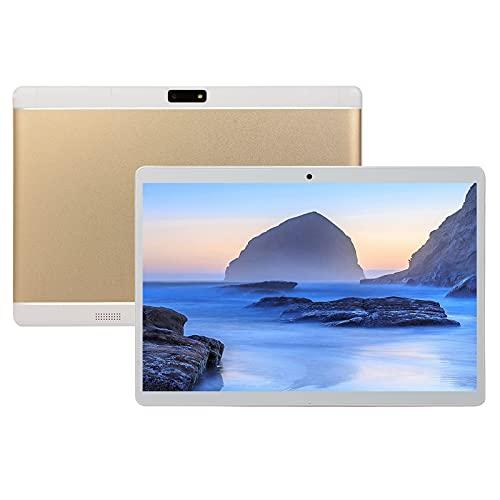 Tablet 10 Pulgadas Android 8.0 10-Core RAM 4 GB ROM 64 GB 8800 mAh Akku Kamera 13MP+8MP, WLAN GPS Type-C Dual SIM Card 3G Tablet,Oro