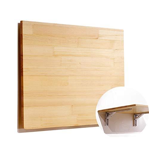 Mesa de Hoja abatible de bambú Natural de Pared, Escritorio Plegable de Cocina y Mesa de Comedor - 80X50cm / 100X40cm / 100X50cm / 120X30cm / 120X40cm / 120X50cm (Size : 80X50cm)