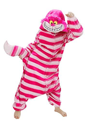 Onesie World - Pijama unisex para disfraz de cheshire o gato, para adultos, para Halloween, carnaval