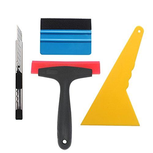 Gebildet 4 in 1 Spugna Set per Pellicola in Auto Vinile/Pellicola Solare/Tinta Finestra, qualità Premium e Zero Graffi