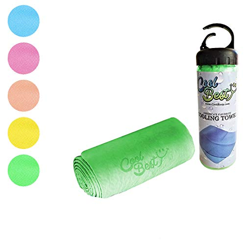 Cool Besty Cooling Towels for Workout Tennis Golf Biking - Best for Any Sport Activities & Athletes Cold Towel - Chilly Pad Instant Cooling Snap Towel - Perfect for Gym - Green