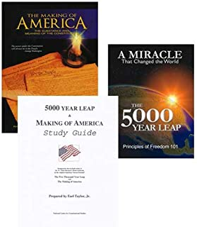 American Government and US Constitution Study Course, 3 Book Set: 5000 Year Leap, Making of America, and Study Guide