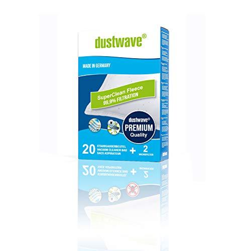 Megapack - 20 dustwave® Premium-Staubsaugerbeutel geeignet für Bomann - BS 9019 CB Bodenstaubsauger - Microvlies-Filtertüten