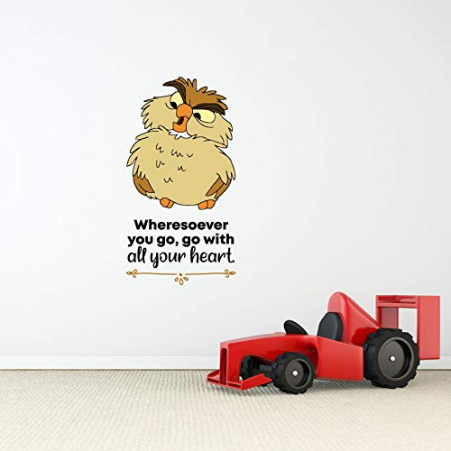 Heart Sword in The Stone Owl Quote Cartoon Quotes Decors Wall Sticker Art Design Decal for Girls Boys Kids Room Bedroom Nursery Kindergarten Home Decor Stickers Wall Art Vinyl Decoration (10x8 inch)