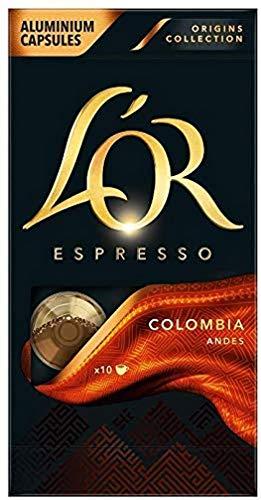 L'OR Espresso Café Colombia Intensidad 8 – Cápsulas de Aluminio Compatibles con Máquinas Nespresso (R)* - 10 paquetes de 10 cápsulas (100 bebidas)
