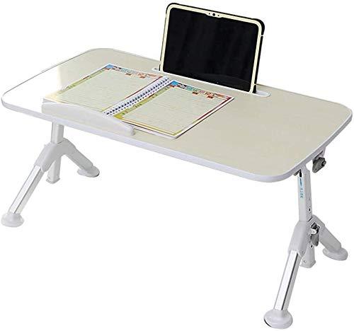 Plegable del ordenador portátil del escritorio del hogar de Protable computadora de la cama mesa de desayuno de café Bandeja de picnic al aire libre Tabla dormitorio dormitorio Salón Comedor, Altura á