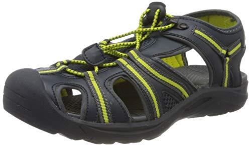 CMP – F.lli Campagnolo Kids Aquarii 2.0 Hiking Sandal, Sandalias de Senderismo Unisex Adulto, Color Negro Antracite Cedro 44ak, 40 EU