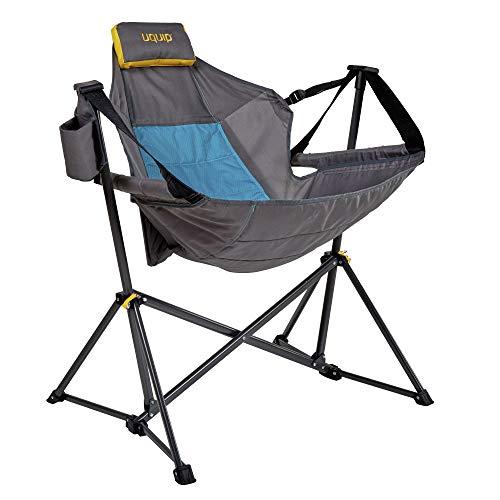 Uquip Campingstuhl Rocky - Outdoor Hängesessel mit Gestell, leichtes Gewicht, kleines Packmaß, bis 120kg