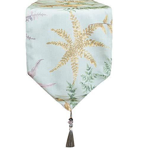 Chemin de Table européen de Fleur de Plante, décoration Gland de matériel mélangé élégant et Beau (Couleur : Vert, Taille : 33x210m)