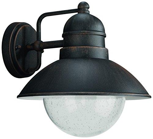 Philips 172378610 Damascus Lanterne murale rouille en Verre 1 x 60 W Noir