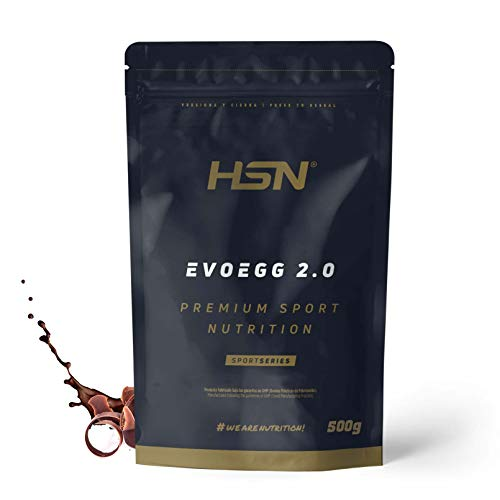 Proteína de Huevo de HSN Evoegg 2.0 | 100% Albúmina de Huevo en Polvo | Egg Protein | Para personas intolerantes a la lactosa y ovo-lactovegetarianos | Sin Gluten, Sin Lactosa, Sabor Chocolate, 500gr 🔥