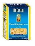 De Cecco Semonlina Pasta, Mezzi Rigatoni No.26, 1 Pound (Pack of 3)