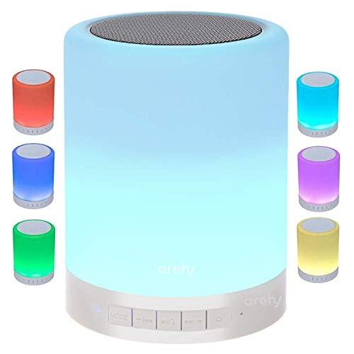 Archy Bocina Touch RGB Mini Reproductor con Altavoz Bluetooth, con iluminación Multicolor led rítmica, Control táctil. (Redonda)