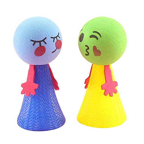 anne210 Creative Emoj Bouncing Doll Jump Pop Up Elf Toys Bouncing Toy Childrens Kids Party Bag Fillers Party Supplies Decorations 4x9CM 1 Pcs