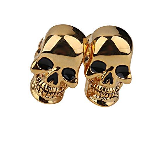 TFGUOqun Moda 1 par de Tono de Oro Terror Copula de Cobre Gemelos Gemelos Gemelos Disfraz de Halloween Accesorios para Hombres para Mujeres y Hombres (Color : Gold)