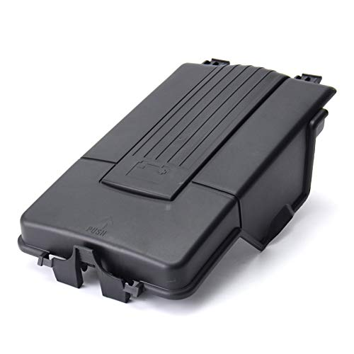 ZHENGYI Tapa De La Bandeja De La Batería Fit Fit For Audi A3 Q3 V W J E T T A Golf MK5 MK6 FIT FOR Passat B6 FIT FOR Skoda (Color : Black)