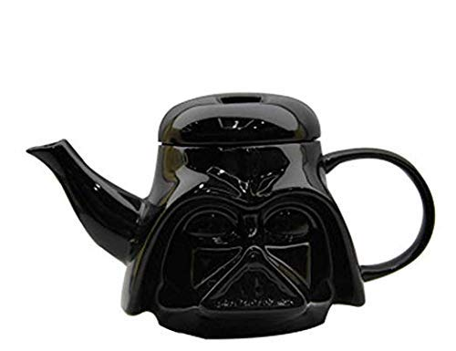 YLJYJ Creative 3D Ceramic Black Darth Vader Casco Diseño Tetera