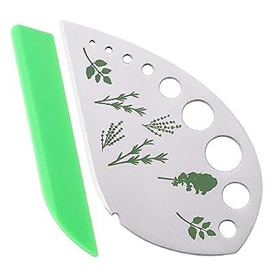Herb Stripper Kale Cilantro Kitchen Gadgets Thyme Lettuce Romaine Fresh Razor Tools for Collard Greens Basil Rosemary vegetables (Metal & plastic) from Juztec