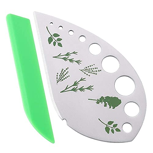Herb Stripper Kale Cilantro Kitchen Gadgets Thyme Lettuce Romaine Fresh Razor Tools for Collard Greens Basil Rosemary vegetables (Metal & plastic)