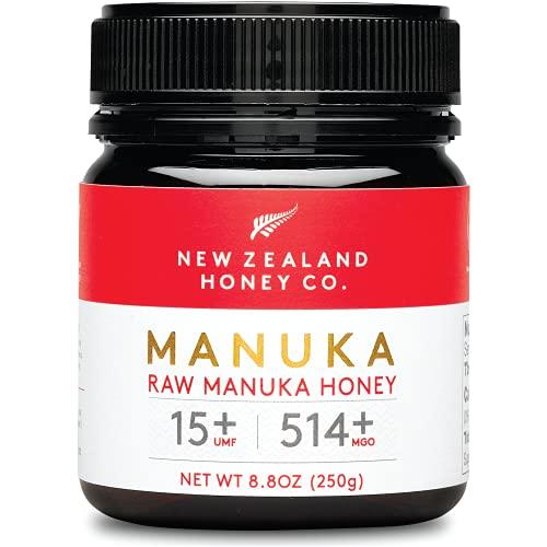 New Zealand Honey Co. Miel de Manuka MGO 514+ / UMF 15+ | Nueva Zelanda Miel 100% Pura y Saludable | 250g