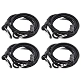 SDTC Tech 24 Inch Bungee Cord with Carabiner Hook | 4 Pack Superior Latex Heavy Duty Straps Strong Elastic Rope Locks onto Anchor Points of Luggage Rack/Cargo/Camping/RV/Hand Carts etc.