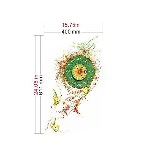 Sucastle® 61.1CMx40CM PVC Reloj de Pared 3D con Números Ad