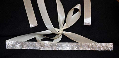 Brautgürtel Strass Damen Gürtel Abendkleidgürtel weiß, ivory, altrosa, schwarz