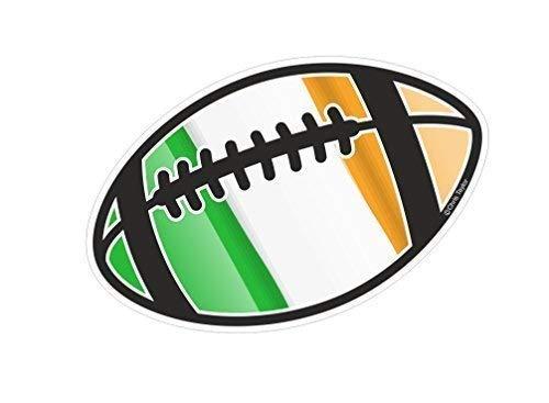 Rugbyball Motiv mit Irland Irisch Irl Flagge für Rugby Squad Team Fan Turnier Auto Aufkleber 130x80mm