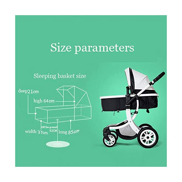 JXCC Baby Stroller Ultra Light Folding Child Shock Absorber Trolley Can Sit Half Lying 0-3 years old,15kg maximum -Safe And Stylish B JXCC 1. {All seasons} - Three-sided mesh design, the awning can be adjusted at multiple angles to easily cope with the sun 2. {55CM high landscape} - Baby can stay away from hot air surface, car exhaust, for baby's health 3. {3D Stereo Vibration} - X-frame design, evenly dispersing the upper weight, front wheel built-in suspension, rear wheel frame suspension 2