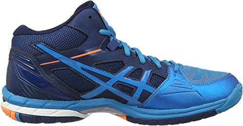 Asics Gel-Volley Elite 3 MT, Zapatillas de Voleibol para Hombre, Azul (Blue Jewel/White/Hot Orange), 42 EU