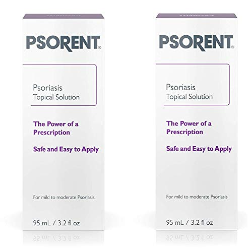Psorent Psoriasis Topical Solution, Over the Counter Psoriasis Treatment, 3.2 fl. oz (2 Pack)