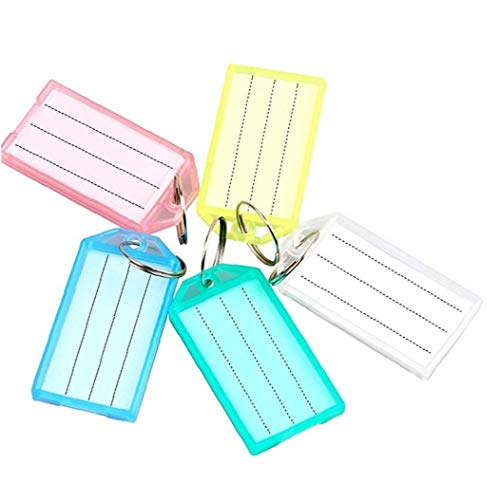 1PC Luggage ID Tags Label ID Key Tags with Split Ring Travel ID Identifier Label for Bags Baggage Random Color