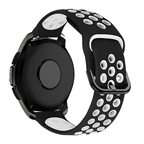 MroTech Correa 20mm Silicona Compatible Samsung Galaxy Watch 42mm/Active/Active2 40mm 44mm/Gear Sport...