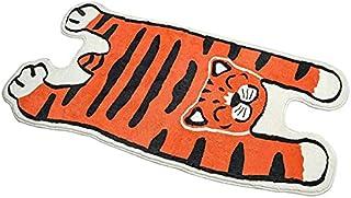 Tiger Rug Cartoon Animal Rug Cute Fluffy Cartoon Cat Water Absorption Non Slip Carpet Super Soft Microfiber Stairs Playroo...