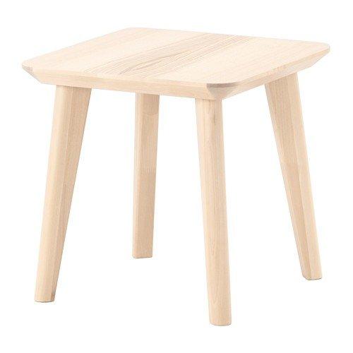 IKEA LISABO - Mesa auxiliar (madera de fresno, 45 x 45 cm)