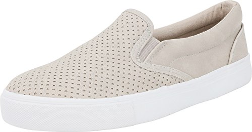 Soda IF14 Women's Perforated Slip On Elastic Panel Athletic Fashion Sneaker, Color:Clay Nubuck 11