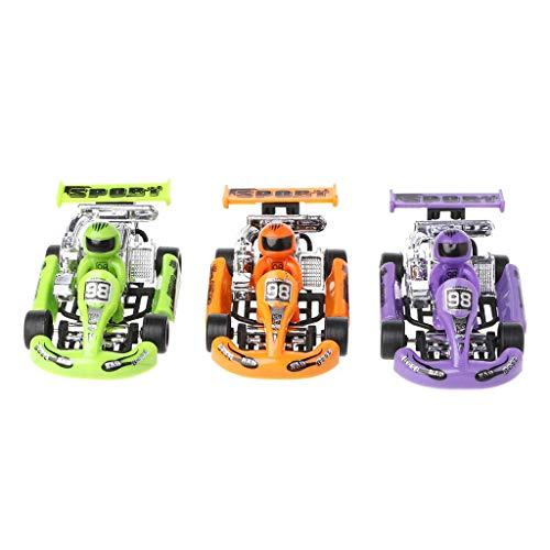 BENGKUI Go-Kart-Modell, Alu-Automodell Go-Kart-Rennspiel Sportfahrzeug Kunststoffmotor zurückziehen Spielzeug