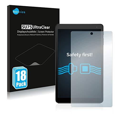 Savvies 18x Schutzfolie kompatibel mit Alcatel Pixi 4 Bildschirmschutz-Folie Ultra-transparent