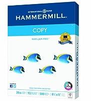 Hammermillコピー用紙、20lb、8–1/ 2x 1、92明るい、400シート/ 1Ream ( 150200r ) by Hammermill