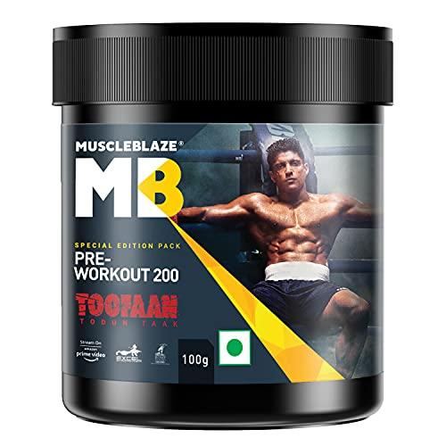 MuscleBlaze Toofaan Pre Workout 200, Special Edition Pack (Fruit Splash, 100 g, 20 Servings)