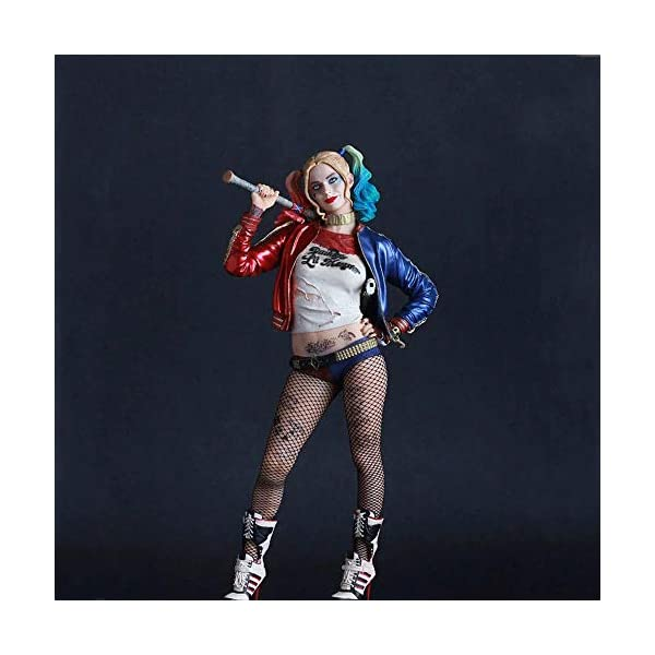 XFHJDM-WJ Estatuilla Escuadrón Suicida Harley Quinn Figura Modelo Juguetes Joker Figuras PVC Juguetes 12 Colección Anime… 1