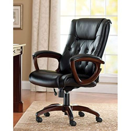Bonded Leather Executive Office Chair with Lumbar Support