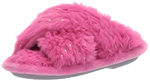 Dearfoams Kids' Slide Slipper, Pink Polish
