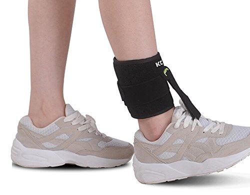KONMED - supporto ortopedico regolabile per piede cadente, poliomielite, emiplegia, misura universale