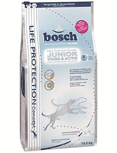 bosch Life Protection Concept | Junior Young & Active | Hundetrockenfutter für Welpen und ausgewachsene Hunde mit erhöhter Bewegungsaktivität | 1 x 12.5 kg